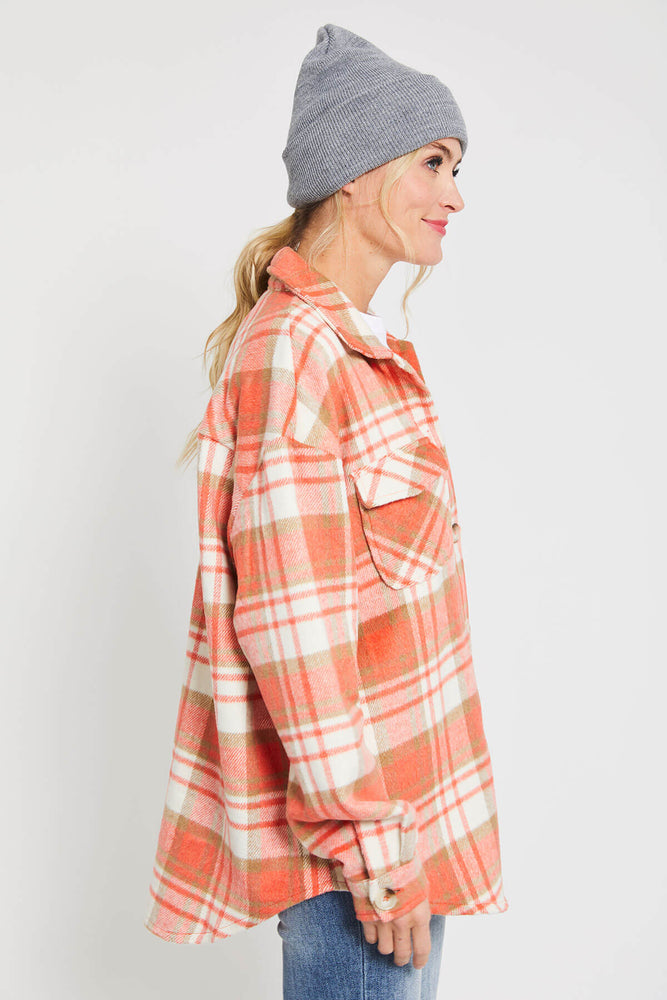 Load image into Gallery viewer, Bestto Plaid Shirt Jacket