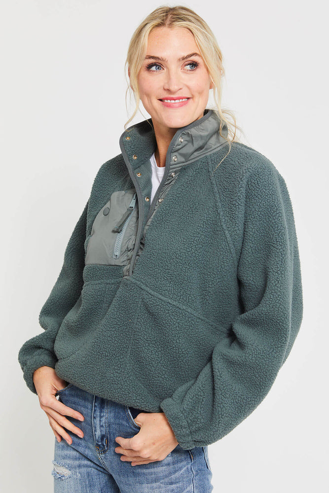 Free People Hit the Slopes Pullover Fleece