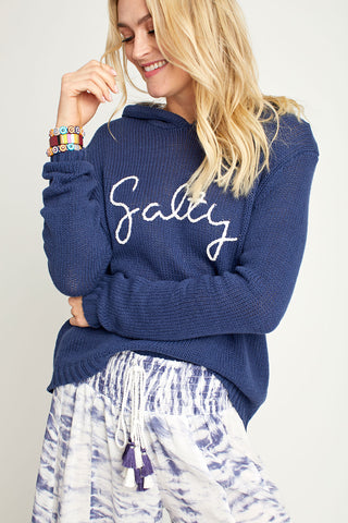 "Vintage Havana ""Salty"" Hooded Sweater"