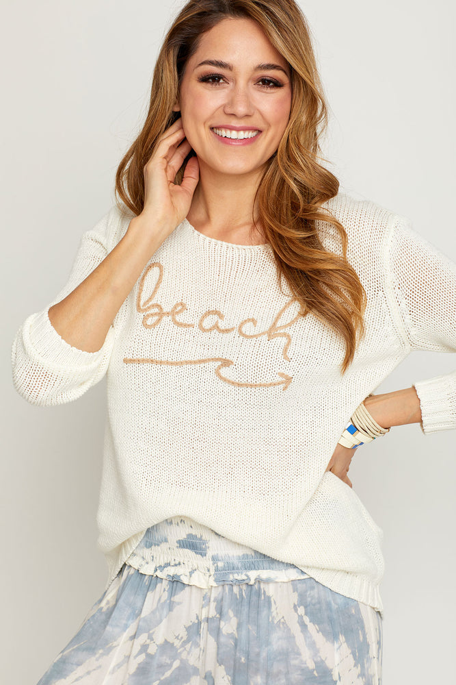 "Load image into Gallery viewer, Vintage Havana ""Beach"" Graphic Sweater"