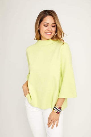 Fate Lime Mockneck Sweater