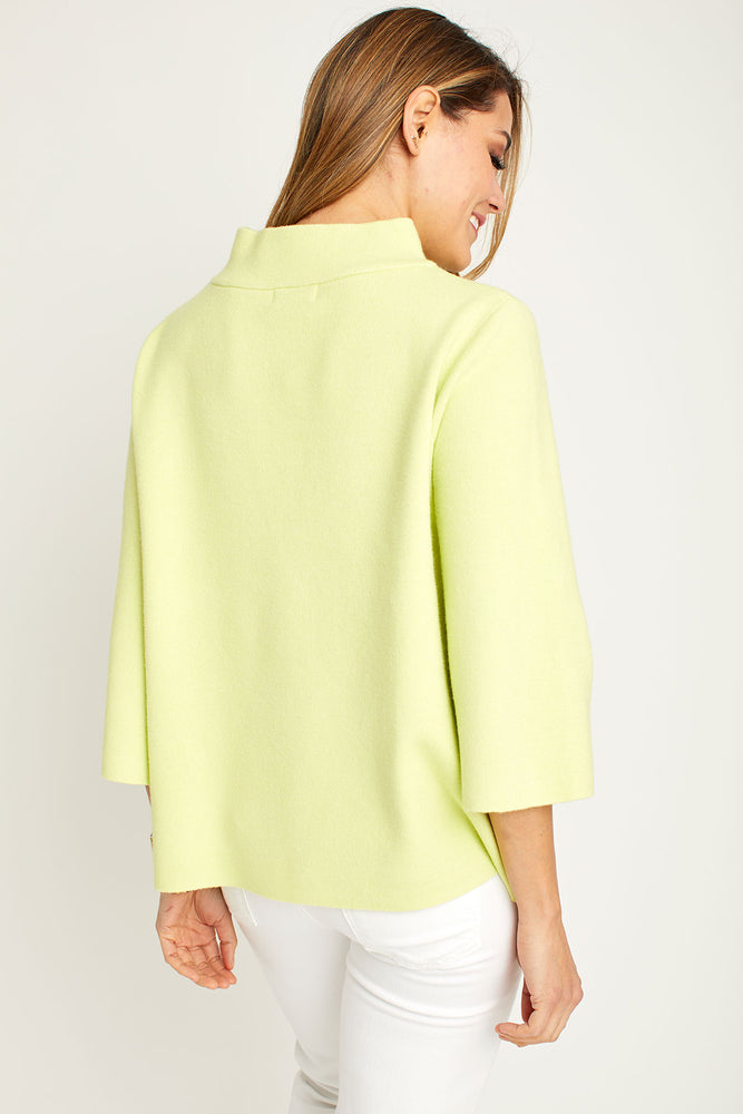 Load image into Gallery viewer, Fate Lime Mockneck Sweater
