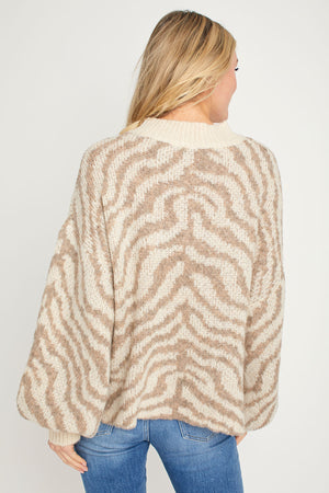 Load image into Gallery viewer, Fate Zebra Sweater