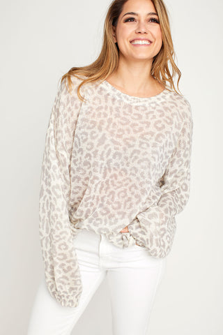 Fate Cream Leopard Sweater