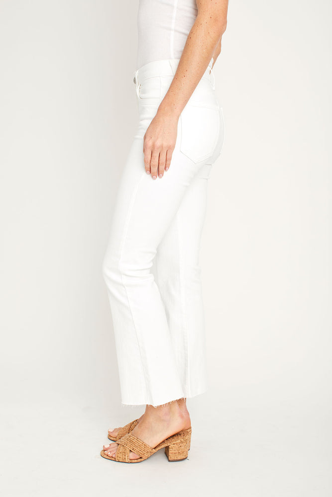 Just Black White Crop Flare Jeans