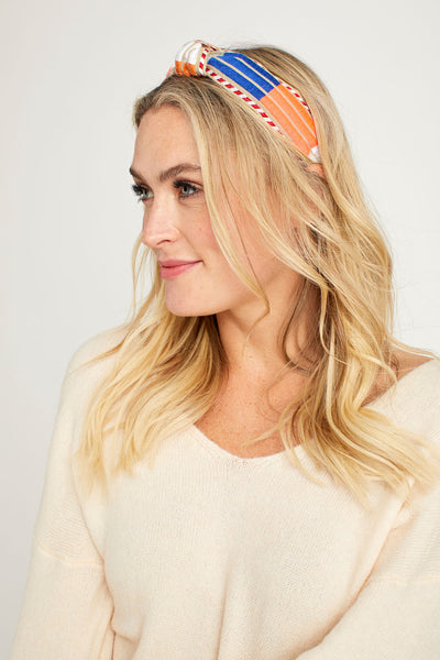 Neon Multi Embroidered Headband