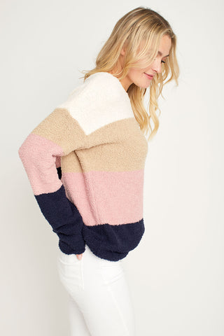 BB Dakota Warm & Fuzzy Light Weight Fuzzy Chenille Sweater
