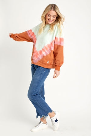 Load image into Gallery viewer, Free People Ombre Metti Tie Dye Crew Sweatshirt
