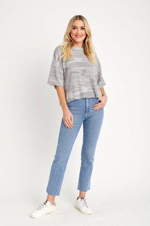 Just Black High Rise Classic Straight Leg Raw Hem Jeans