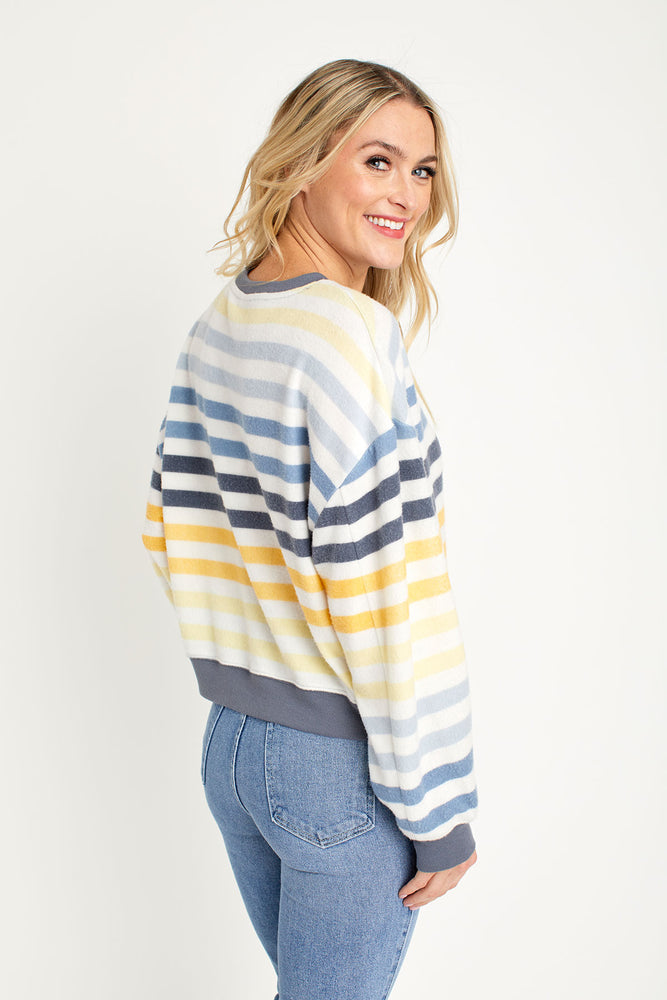 Load image into Gallery viewer, Z Supply Hacci Multi Stripe Pullover