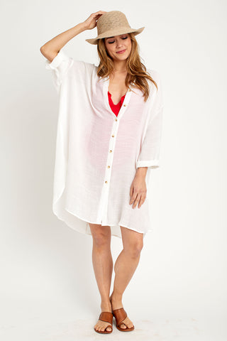 Favlux Button Front Sheer Coverup