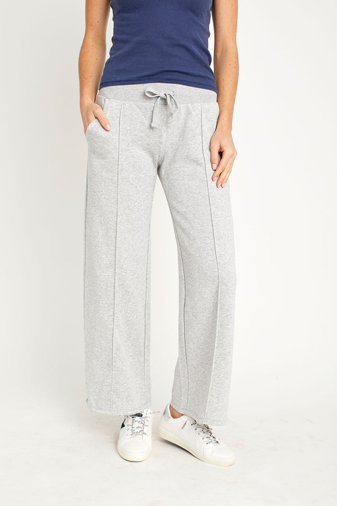 Alternative Apparel Pintuck Wide Leg Crop Sweatpants