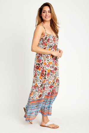 Look by M Floral Maxi Dress/Coverup