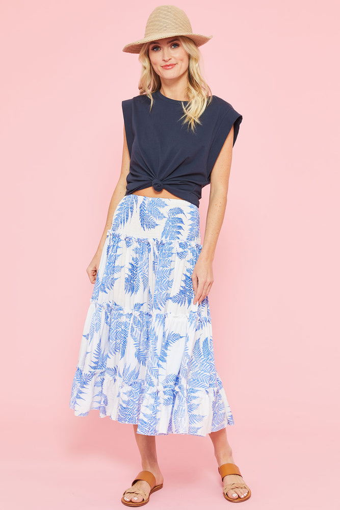 Eesome Palm Print Skirt