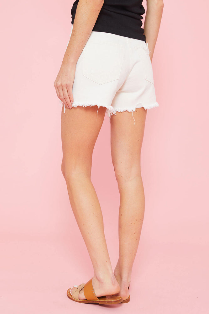 Free People White Makai Shorts
