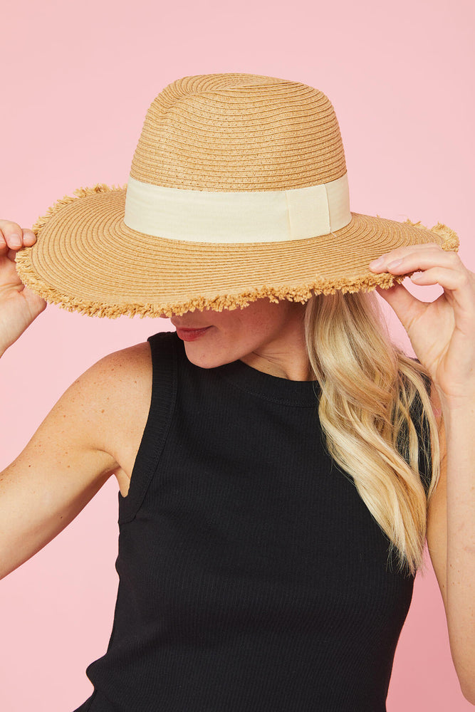 Load image into Gallery viewer, Anarchy St. Frayed Edge Straw Hat