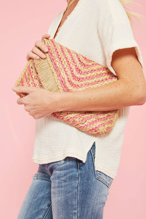 Load image into Gallery viewer, Shiraleah Hani Pink Clutch