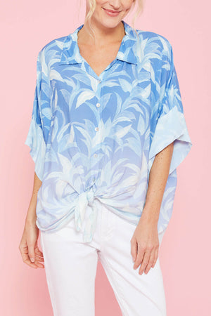 Surf Gypsy Ombre Tropical Leaf Shirt Coverup