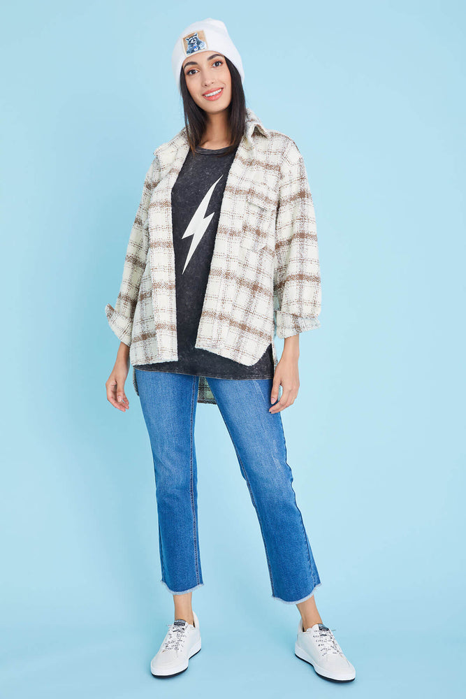 Load image into Gallery viewer, Cezele Plaid Shacket