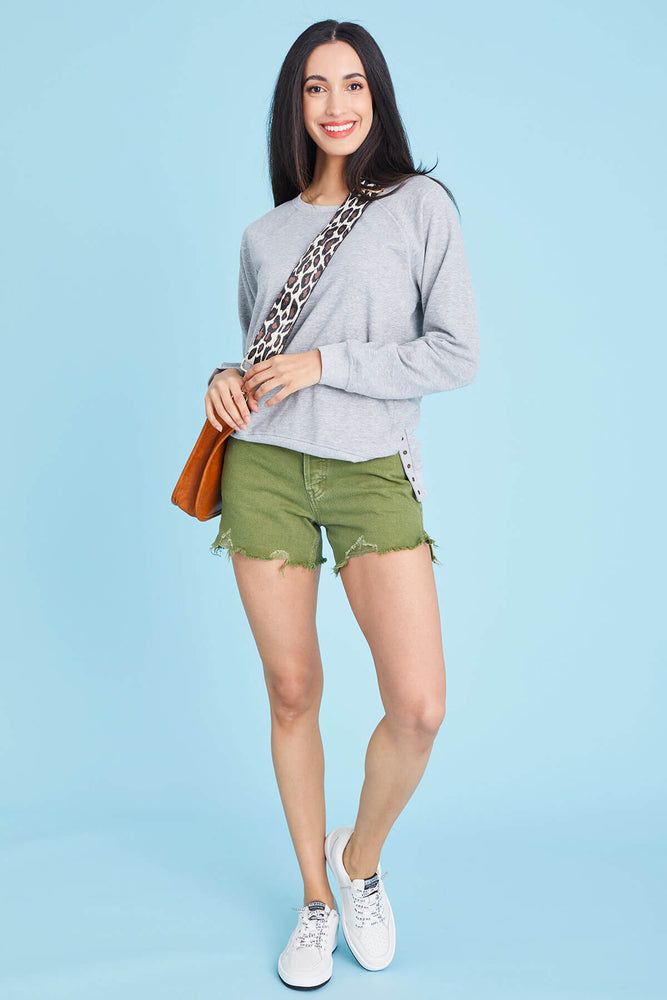 Free People Olive Makai Cut Off Shorts