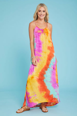 Solution Tie Dye Maxi Dress