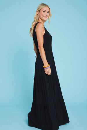 Load image into Gallery viewer, Love Stitch Linen Blend Maxi Tank Dress