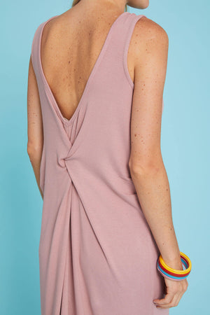 Load image into Gallery viewer, Hem and Thread Low Back Tank Dress