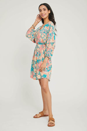 Andree by Unit Patchwork Mini Dress