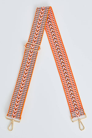Pink/Orange/Brown Geometric Strap