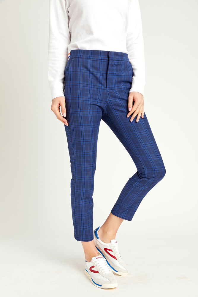 BB Dakota Work It Out Plaid Pants with Contrasting Waistband