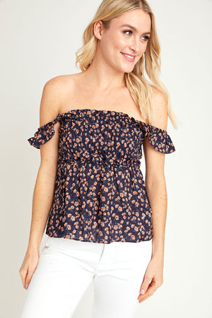 Load image into Gallery viewer, Sugarlips Floral Smocked Top