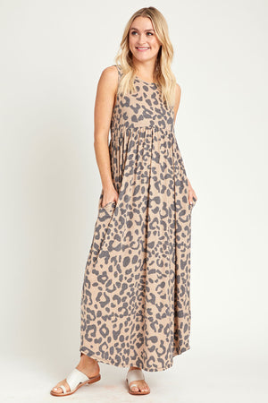 Bombom Animal Print Maxi Dress