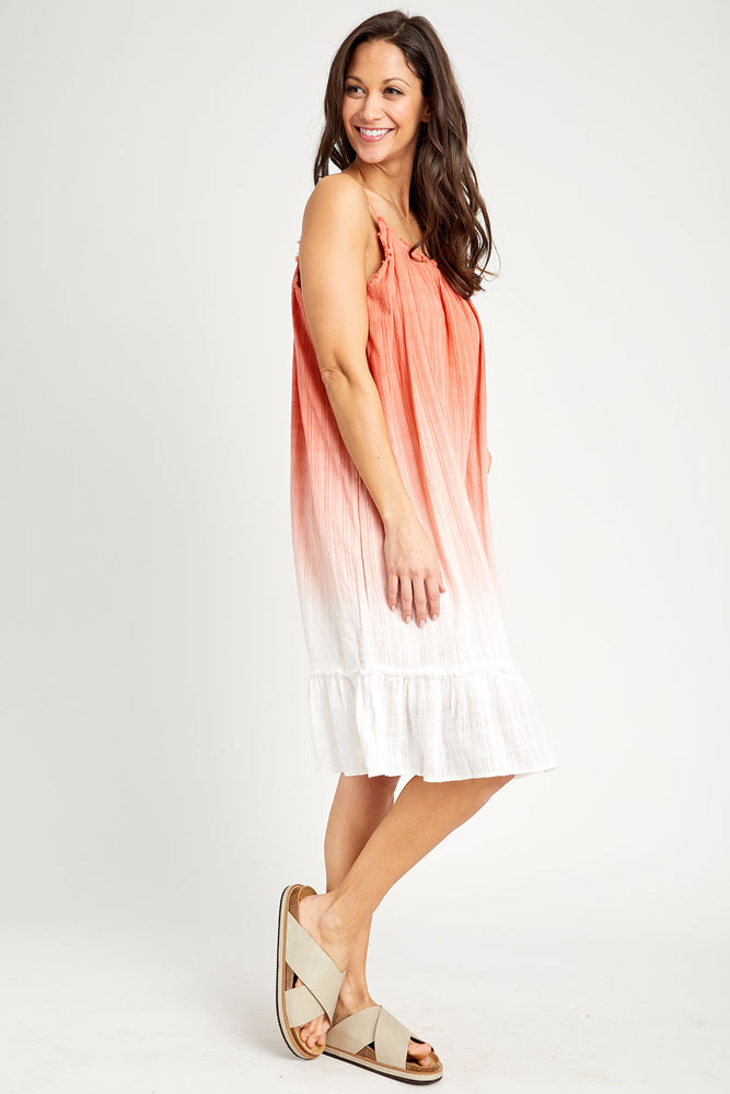 American Fit Ombre Tie Dye Dress
