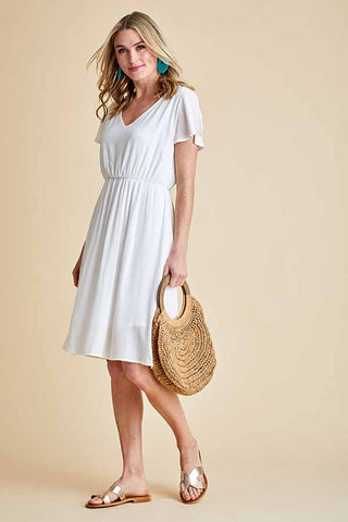 Fantastic Fawn Dress (Available in White and Yellow)