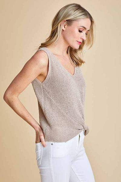 Fate Twisted Knit Sweater Tank