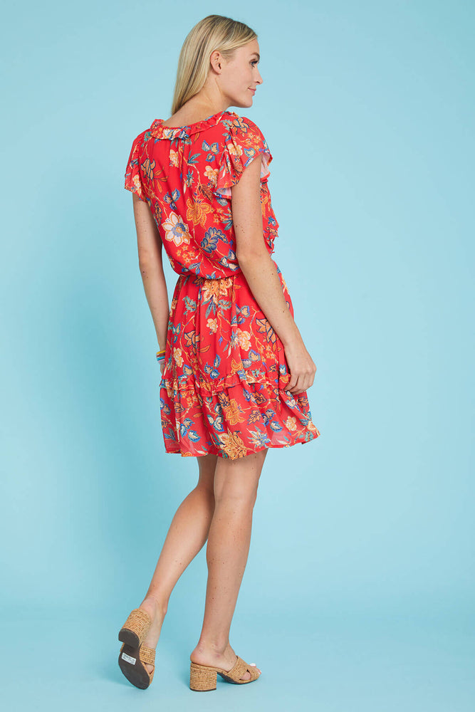 Flying Tomato Floral Print Tie Waist Dress