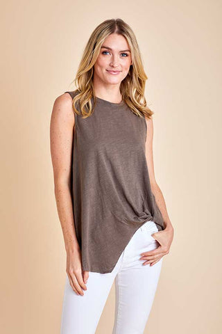 Mustard Seed Knot Front Tank