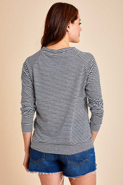 Alternative Striped Slouchy Pullover