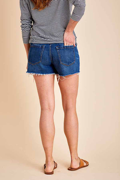 Blank NYC Aftershock Button Front Highwaisted Cutoff Shorts