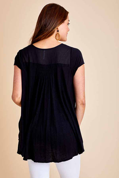Free People Highland Button Front Tee
