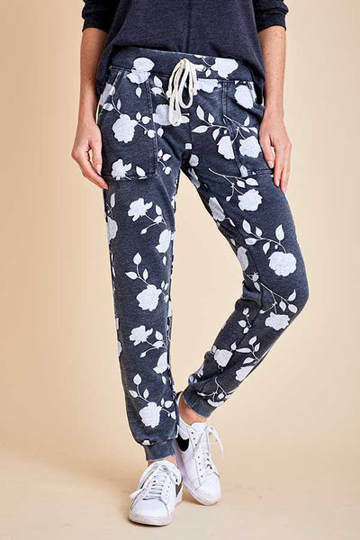 Alternative Apparel Floral Long Weekend Sweatpants