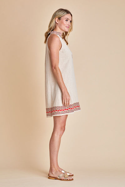 THML Embroidered Halter Dress
