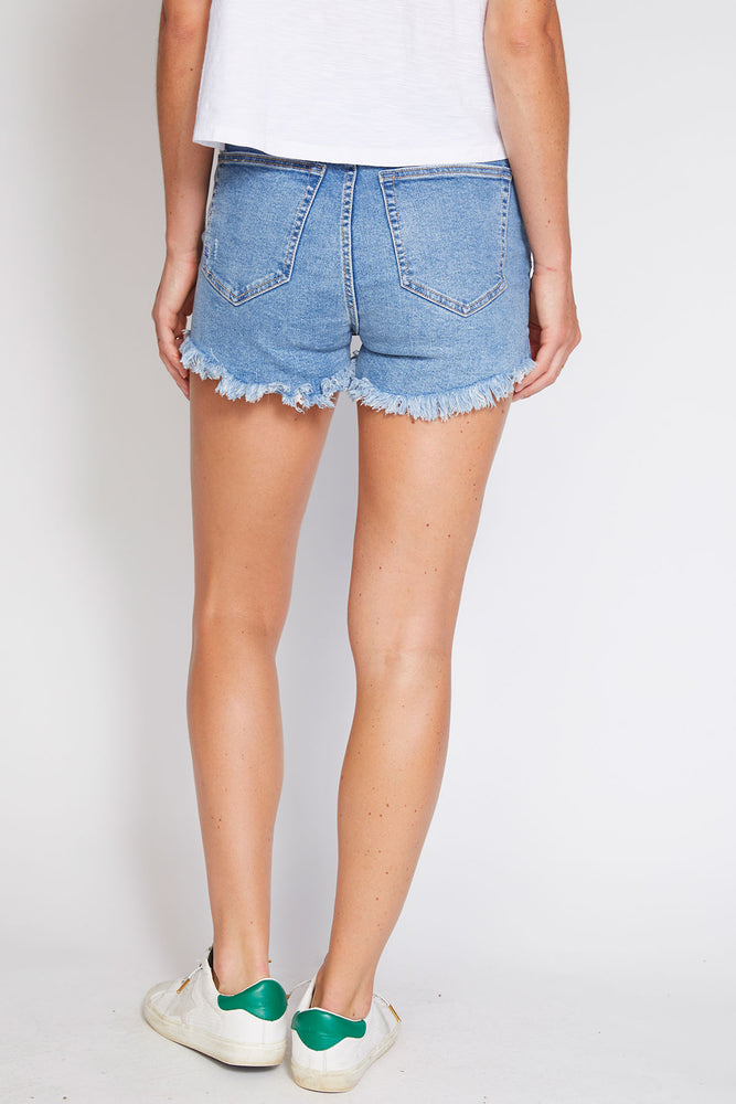Free People CRVY High Rise Cut Offs