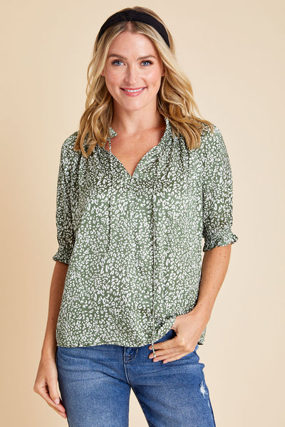 Current Air Animal Print Top