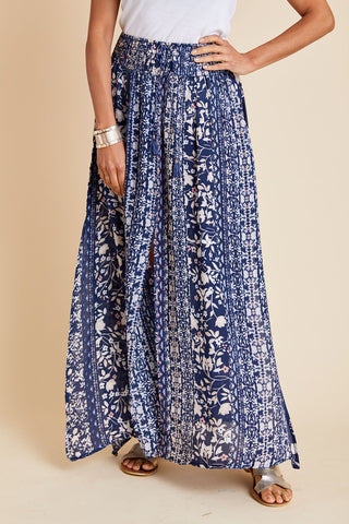 Love Stitch Front and Side Slit Maxi Skirt
