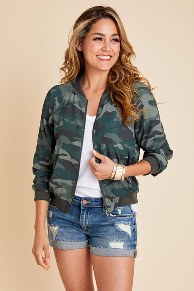BB Dakota Can't See Me Camo Bomber Jacket