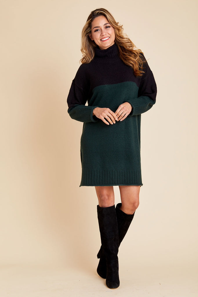 RD Style Colorblock Sweater Dress