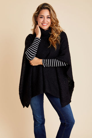 RD Style Turtleneck Poncho