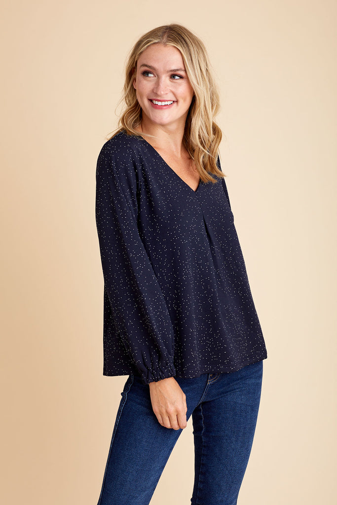 THML Vneck Knit Top