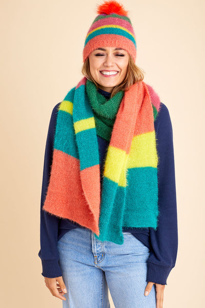 Look by M Multi Stripe Scarf